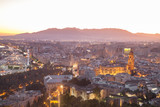 Romantic Malaga panorama on evening - 183209519