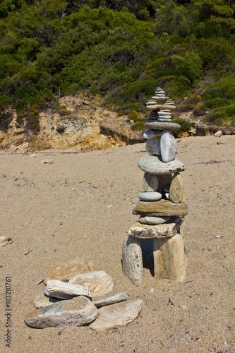 Papiers peints Zen pierres a sable dolmen da spiaggia