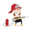 funny firefighter clipart - 183213154