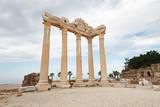 Columns of an ancient Greek temple, ruins - 183213510