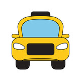 Taxi cab vehicle icon vector illustration graphic design - 183214543