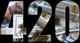 Cannabis 420 Logo With Weed & Money Inside High Quality
