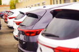 Cars For Sale Stock Lot Row. Car Dealer Inventory - 183219164