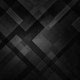 abstract black background with triangles and rectangle shapes layered in contemporary modern art design, black white and gray shades - 183222154