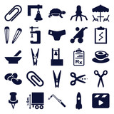 Set of 25 clip filled icons - 183230983