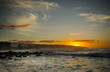 Sunset over Kaena Point on the north shore of Oahu Hawaii