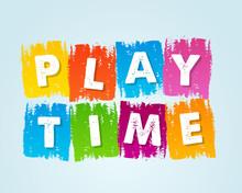 Playtime In Motley Drawn Banner  Sticker