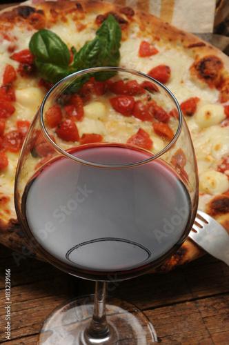 Plexiglas Pizzeria Pizza and wine