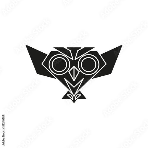 Plexiglas Uilen cartoon owl logo illustration