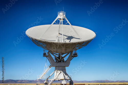 In de dag Nasa A radio telescope from the VLA in New Mexico