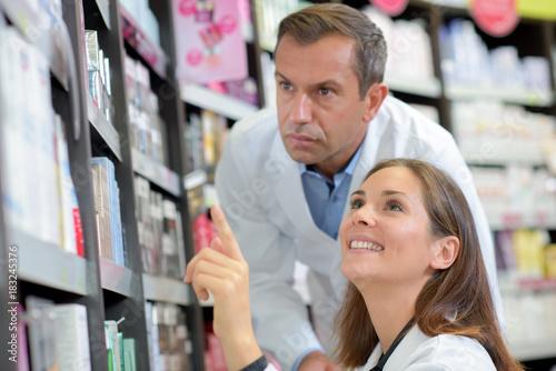 Foto op Plexiglas Apotheek at the pharmacy