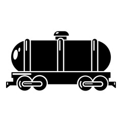 Tank car icon, simple style
