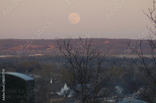 Foto op Canvas Donkergrijs Moonrise