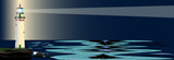 Lighthouse Night Background - 183260131