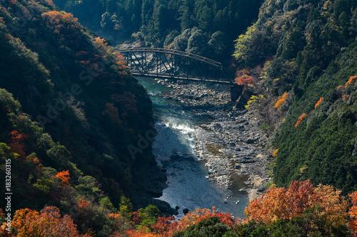 Fotobehang Nachtblauw Autumn in Kyoto, Japan