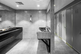 interior of modern public washing room - 183270981