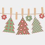 Christmas greeting card with Christmas tree - 183272340