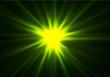 Green glowing shiny beams abstract background - 183273778