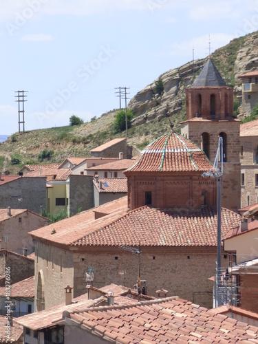 Sticker Allepuz. Pueblo de la comarca Maestrazgo en la provincia de Teruel, en la comunidad autónoma de Aragón, España.
