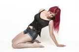 Fashionshooting einer rothaarigen Frau - 183277158