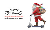 Santa Claus wish us a very Merry Christmas  - 183286127