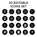 Form icons. set of 20 editable filled and outline form icons - 183287740