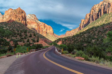 Road to Zion National Park, Utah.