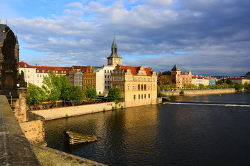 Old Prague view from  Charles Bridge.