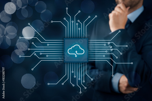 Fototapeta Cloud computing