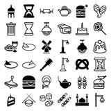 Set of 36 traditional filled and outline icons - 183294514