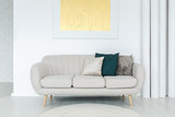 Bright couch with pillows - 183295784