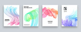 Abstract cover template set, Modern design with gradients, vector illustration - 183296752