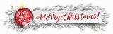 Paper Banner Bauble Frozen Twigs Merry Christmas - 183298351