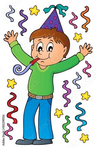 Plexiglas Voor kinderen Boy celebrating theme image 1