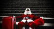 Santa claus and dark space