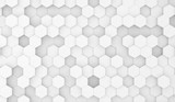 3D Rendering Of Abstract Hexagons Top View With Empty Space