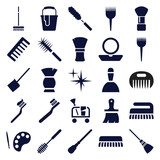 Set of 25 brush filled icons - 183300724