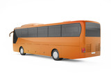 Orange big tour bus isolated on a white background. 3D rendering - 183300734