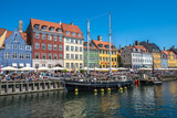 Nyhavn district is one of the most famous landmarks in Copenhagen, Denmark - 183306551