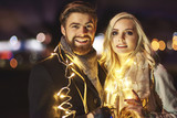 Portrait of in love couple at new year - 183307393