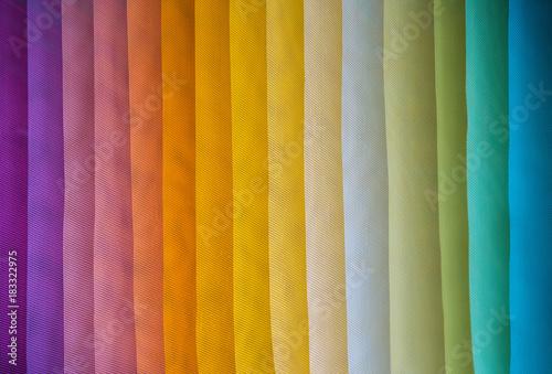 assorted rainbow color dyed fabrics