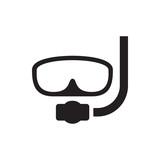 underwater mask icon illustration - 183325360