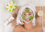 Young healthy woman with face mask. - 183326923