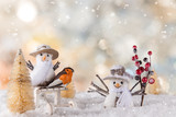 Christmas decoration with blurred background - 183327520