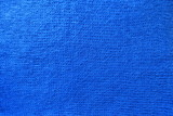 Vivid blue handmade knit fabric from above - 183327782