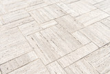 patterned paving tiles, cement brick floor background. - 183332100
