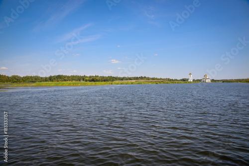 Papiers peints Gris landscape. The river Dnieper