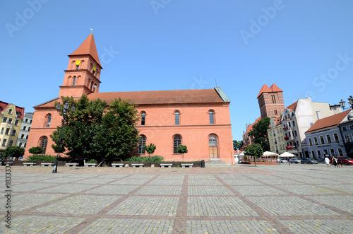 Fototapeta New Town Market Square in Torun (Poland)