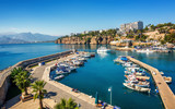 Antalya city on Mediterranean sea, Turkey