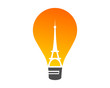 lamp icon with negateive space eiffel
